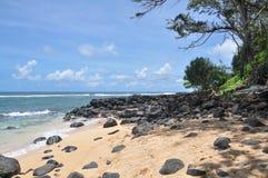 Waiakalua海滩 免版税库存图片