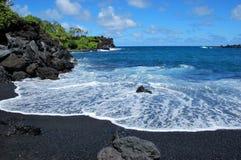 Waianapanapa Beach. Black sand beach in Maui, Hawaii, near Hana stock photography