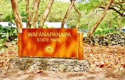 Waianapanapa delstatspark maui hawaii Arkivbilder
