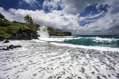 Waianapanapa stanu park, Hawaje Obrazy Stock
