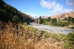 Waiau flodkorsning, Nya Zeeland Fotografering för Bildbyråer