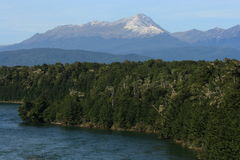 Waiau river in fiordland national park Stock Images