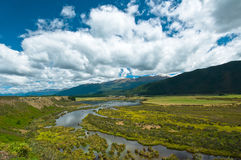 Waiau river wetland South New Zealand Royalty Free Stock Image