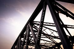 The Waibaidu Bridge in detail Royalty Free Stock Images