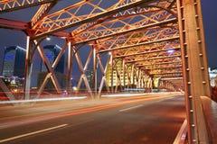 Waibaidu bridge, the famous historic steel bridge, Shanghai Royalty Free Stock Image