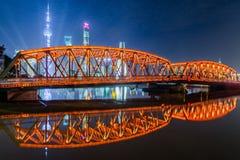 The Waibaidu bridge in Shanghai Royalty Free Stock Images