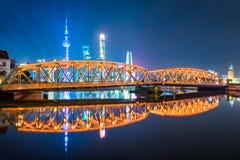 The Waibaidu bridge in Shanghai Stock Photos