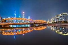 The Waibaidu bridge in Shanghai Stock Photography