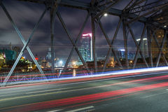 Waibaidu bridge shanghai china Royalty Free Stock Photo