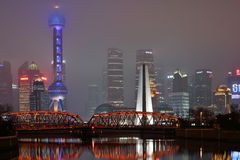 Waibaidu Bridge, Shanghai Stock Photos