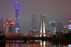 Waibaidu Bridge, Shanghai Stock Photos