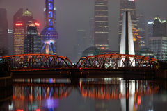 Waibaidu Bridge, Shanghai Stock Photography