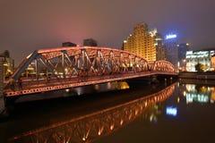 Waibaidu Bridge, Shanghai Royalty Free Stock Image