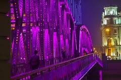 Waibaidu Bridge Shanghai Stock Images