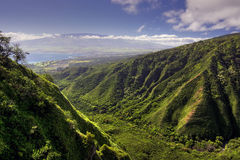 Waihee Ridge Trail, over looking Kahului and Haleakala, Maui, Hawaii Stock Images