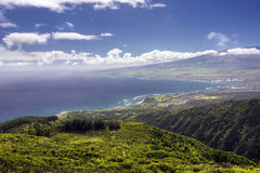 Waihee Ridge Trail, over looking Kahului and Haleakala, Maui, Hawaii Royalty Free Stock Images