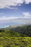 Waihee Ridge Trail, over looking Kahului and Haleakala, Maui, Hawaii Stock Image