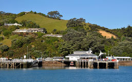 Waiheke Insel-Fährekai, Auckland, Neuseeland Lizenzfreies Stockfoto