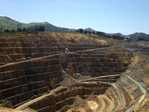Waihi, old gold mine open pit. New Zealand North Island Royalty Free Stock Images