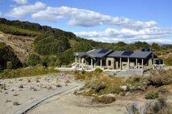 Waihohonu-Hütte auf Tongagiro-Spur, NZ Lizenzfreie Stockfotografie