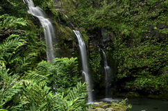 Waikani падает на дорогу Ганы, Мауи, HI Стоковое фото RF