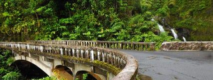 Waikani понижается от моста, Мауи, Гавайских островов Стоковое Фото