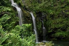 Waikani Falls on the Hana Road, Maui, HI Royalty Free Stock Photo