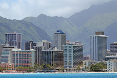 Waikiki海滩,奥阿胡岛,夏威夷 免版税库存照片