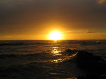 waikiki ηλιοβασιλέματος Στοκ φωτογραφίες με δικαίωμα ελεύθερης χρήσης