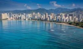 Waikiki Гонолулу Оаху Гаваи Стоковые Изображения RF