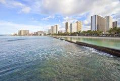 waikiki горизонта Гавайских островов стоковые фото
