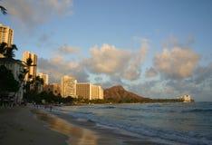 waikiki пляжа стоковые изображения rf