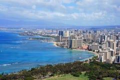 Waikiki. A view of Waikiki from the top of Diamond Head Royalty Free Stock Photo
