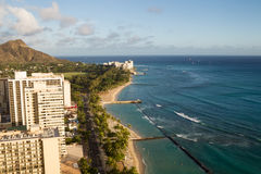 Пляж Waikiki, Гонолулу Стоковые Фото