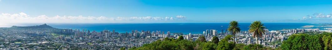 Waikiki aerail mening Royalty-vrije Stock Afbeelding