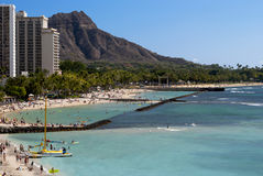 Waikiki Beach in Hawaii Royalty Free Stock Image