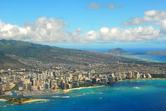 Waikiki Beach From The Air Stock Photography