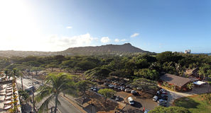 Waikiki beach and diamond head Stock Image