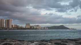 Waikiki Beach & Diamond Head Time Lapse Video stock video footage