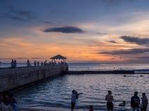 Waikiki Beach at dusk Stock Images