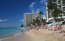 Waikiki beach in Hawaii Royalty Free Stock Image