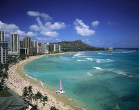 Waikiki beach, hawaii Royalty Free Stock Photography