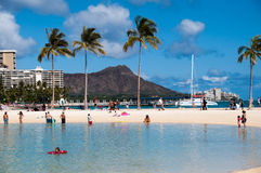Waikiki Beach - Hawaii Royalty Free Stock Photography