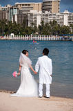 Waikiki Beach - Hawaii wedding Royalty Free Stock Image