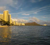 Waikiki Beach - Hawaiian Islands - USA Royalty Free Stock Photography