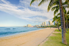 Waikiki Beach - Honolulu Royalty Free Stock Photography