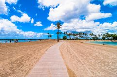 Waikiki beach in Honolulu, Hawaii Royalty Free Stock Photo