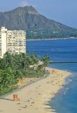 Waikiki Beach, Honolulu, Hawaii Royalty Free Stock Photos