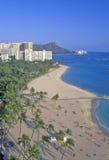 Waikiki Beach, Honolulu, Hawaii Royalty Free Stock Image