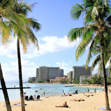 Waikiki Beach, Honolulu,  Hawaii Royalty Free Stock Image